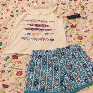 NWT Faded Glory Girl's set, size 7